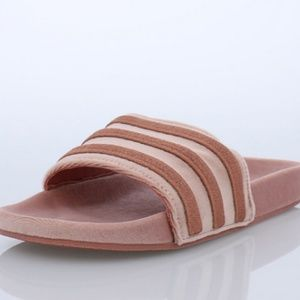 d02c5dd66 adidas Shoes - Adidas Pink Slides   Adilette Sandals Stripes CUTE